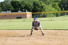 Base-ball de fac de lycée Photos stock