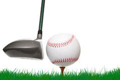 Base-ball de golf photos stock