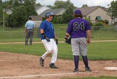 Base-ball de lycée Images libres de droits