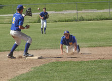 Base-ball de lycée Images stock