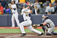 2015 base-ball de NCAA - WVU-TCU Photo stock