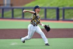 2015 base-ball de NCAA - WVU-TCU Image stock