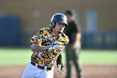 2015 base-ball de NCAA - WVU-TCU Photographie stock libre de droits