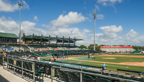 Base-ball de Roger Dean Stadium Jupiter Florida Photographie stock libre de droits