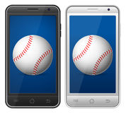 Base-ball de Smartphone Image stock