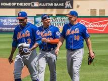 Base-ball des joueurs de terrain MLB des New York Mets 2017 Photographie stock libre de droits