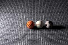 Base-ball et ballons de football de basket-ball Illustration Libre de Droits