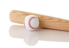 Base-ball et 'bat' Photo stock
