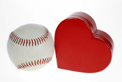 Base-ball et coeur Photo stock