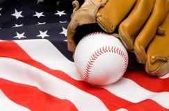 Base-ball et gant Photographie stock