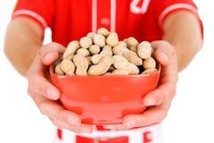 Base-ball : Fermez-vous du bol d'arachides Image stock