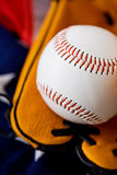Base-ball : Fermez-vous sur le base-ball Image libre de droits