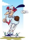 Base-ball - gardez votre oeil sur la bille ! Images libres de droits
