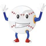 Base-ball heureux Images libres de droits