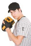 Base-ball : Joueur environ pour lancer la boule Image stock
