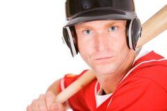 Base-ball : Joueur prêt à manier la batte pour l'équipe Photos libres de droits
