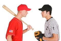 Base-ball : Joueurs d'oeil de opposition de support d'équipes à l'oeil Photographie stock