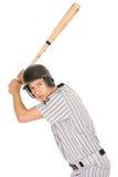Base-ball : Lancement de attente de joueur sérieux Photo stock