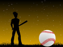 Base ball player Royalty Free Stock Photo