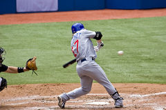 Base-ball professionnel : Fontenot jusqu'à 'bat' Photos libres de droits