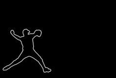 Base-ball rougeoyant Photographie stock libre de droits