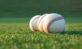 Base-ball sur la zone Photo stock