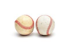 Base-ball utilisé par bien d'isolement Photos stock
