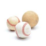 Base-ball utilisé par bien d'isolement Photos libres de droits