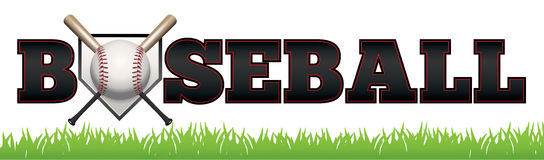 Base-ball Word Art Illustration Photo libre de droits