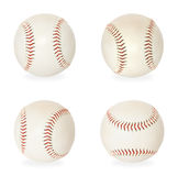 Base balls isolated on white Stock Photos