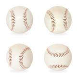Base balls isolated on white Stock Photos