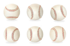 Base balls isolated on white background Stock Photo
