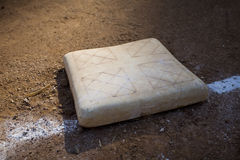 Base on Baseball Field Royalty Free Stock Photos