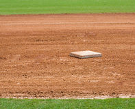 Base on baseball field Stock Images