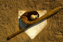 base baseballtappning Royaltyfri Bild