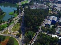 Base bisannuelle de Sao Paulo à Sao Paulo, images de BrazilDrone des avenues de Sao Paulo, Amérique du Sud Brésil clips vidéos