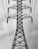 base blåa mobila telekommunikationar för telefonskystation tower arkivfoto