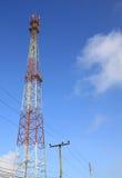 base blåa mobila telekommunikationar för telefonskystation tower Royaltyfri Bild