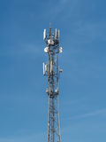 base blåa mobila telekommunikationar för telefonskystation tower Fotografering för Bildbyråer