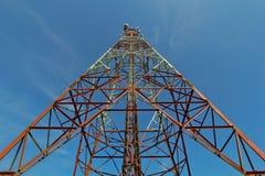 base blåa mobila telekommunikationar för telefonskystation tower Royaltyfri Fotografi