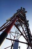 base blåa mobila telekommunikationar för telefonskystation tower royaltyfria foton