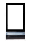 Base black signs square aluminium advertising Royalty Free Stock Image