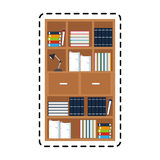 100 BASE. Book shelf office supplies icon image vector illustration design Royalty Free Stock Photos
