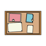 100 BASE. Bulletin board office supplies icon image vector illustration design Stock Photo