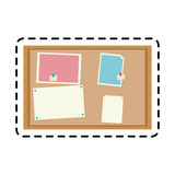 100 BASE. Bulletin board office supplies icon image vector illustration design Stock Photos