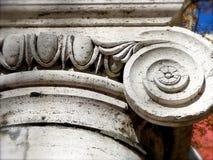 base c huvudionic kolonndetalj för 1910 Royaltyfri Fotografi
