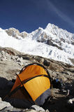 Base camp Alpamayo Royalty Free Stock Image