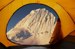 Base Camp Alpamayo Royalty Free Stock Photo