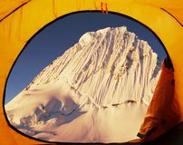 Base camp Alpamayo Royalty Free Stock Images