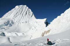 Base camp Alpamayo Stock Photography